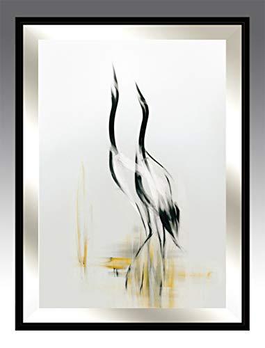Harmonie 2, Serie Fliegende - Gemälde fürs Wohnzimmer, modernes handgemachtes Bild für Haus , handgefertigter Wandschmuck , Wandbild mit Holzrahmen , skandinavischer , modernischer Stil