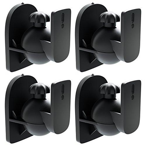 [Set 4 Stück] deleyCON Universal Lautsprecher Wandhalterung Halterung Boxen Halter Schwenkbar +...
