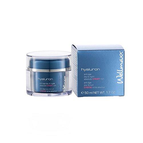 Wellmaxx hyaluron anti-age day & night absolute cream rich, 50ml -