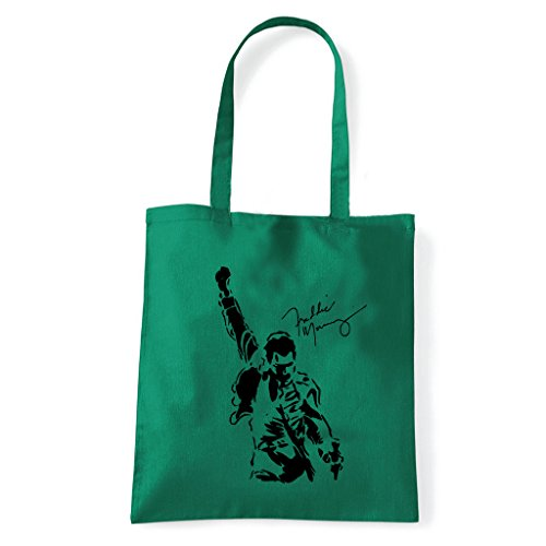 Art T-shirt, Borsa Shoulder Freddy Mercury Queen Verde