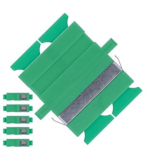 Adaptateur pour fibre optique SC vers SC Monomode APC Duplex - (Lot de 5) - Beyondtech Traversées Fibre Optique / Raccords Kit