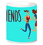 Jikraa Blue Friends Coffee Mug Multicolor 350 ml