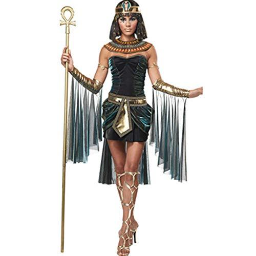 NiQiShangMao Kalifornien kostüme Frauen ägyptische göttin kostüm Erwachsene Cleopatra ägypten Cosplay kostüm für Halloween ägypten königin Kleid (Göttin Kostüm Frauen)