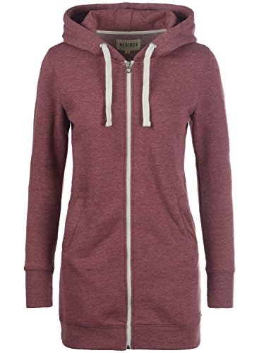 DESIRES Derby Long Sweatjacke, Größe:M;Farbe:Wine Red Melange (8985)