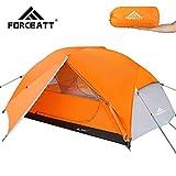 Forceatt Zelt 2 Personen Camping Zelt, 2 Doors Wasserdicht & Winddicht & Insektensicher 3-4 Saison Ultraleichte Rucksack Zelt für Trekking, Camping, Outdoor.