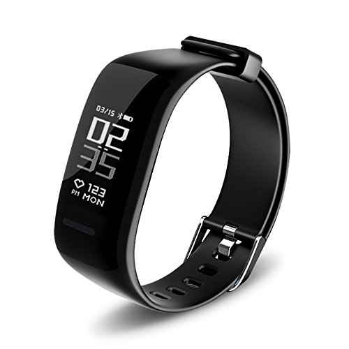 UWATCH Fitness Tracker, BY1 Fitness Armbanduhr Wasserdicht Fitness Tracker HR mit Herzfrequenz/Schlafanalyse/Kalorienzähler/Aktivitätstracker Schrittzähler - Smart Fitness Armband Android IOS