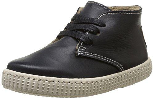 Victoria Safari Piel Tintada Pelo, Boots mixte enfant Noir (Negro)