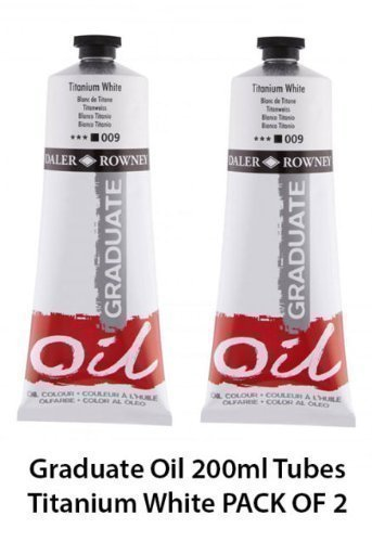 daler-rowney-graduate-oil-paint-200ml-tubes-titanium-white-pack-of-2