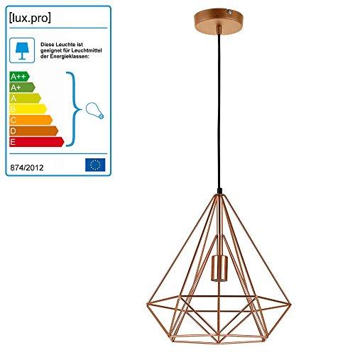 [lux.pro] Lámpara De Techo moderna bronce metal look-industria [1 x base E27] longitud 200cm