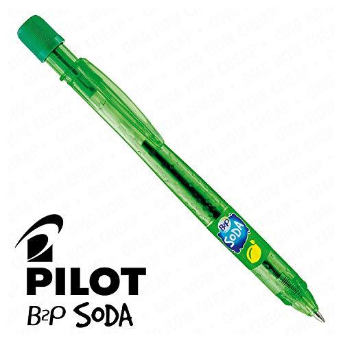 Pilot Soda Druckkugelschreiber, 1 Stück, Zitrone und Limette, [94] %aus recyceltem Kunststoff -