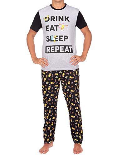 Simpsons pigiama per uomo homer simpson multicolore large