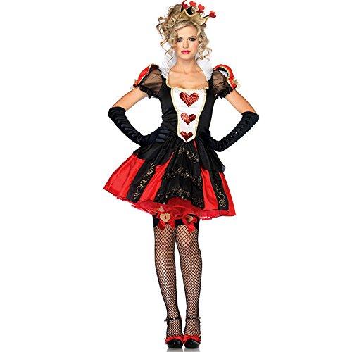 Imagen de lalaareal disfraz bruja reina de corazones mujer para halloween, carnaval