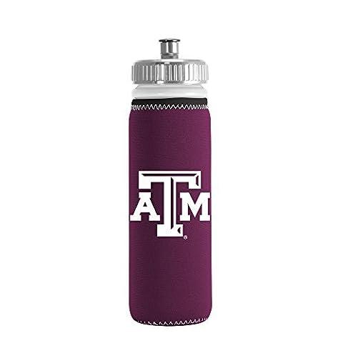 NCAA Texas A&M Aggies Van Metro Squeezable LDPE Water Bottle, Maroon, 22-Ounce by Kolder