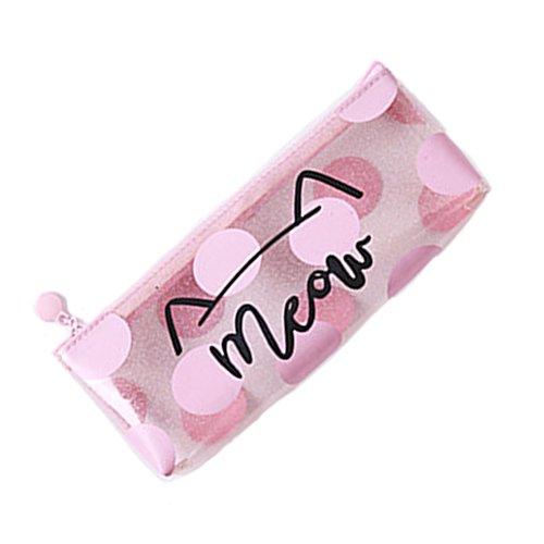 Zip lápiz-bolsa metálica Estuche metálico – maquillaje cepillo de cosméticos bolsa – transparente holográfica cremallera bolsa impermeable – suministros escolares regalo de papelería