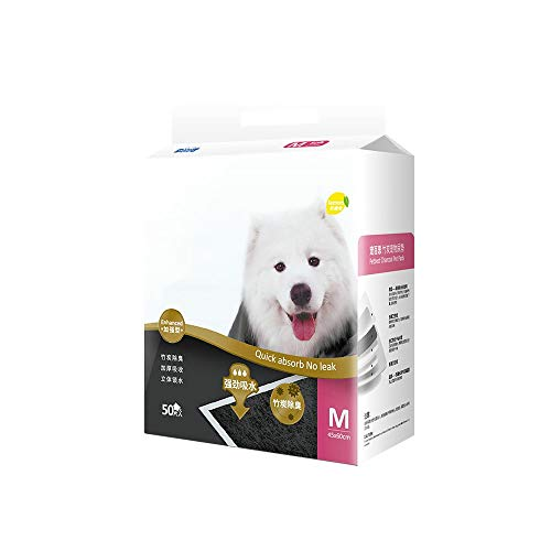 100 pastiglie Premium per cani e cuccioli, con carbone attivo e tecnologia a polimeri super assorbenti, pannolini spessi deodoranti, pastiglie per addestramento cucciolo superassorbenti ( Size : M )