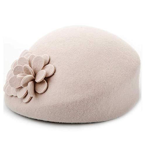 itischer Mode-Trend Woolen Hut-Warmer Knospe-weiblicher Hut (Color : Nude, Size : M) ()