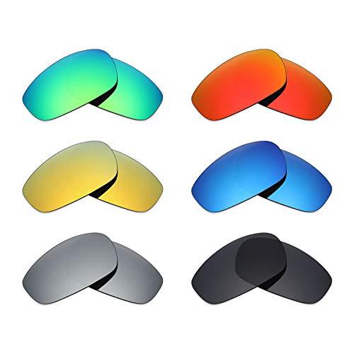 MRY 6Paar Polarisierte Ersatz Gläser für Oakley Split Jacket Sonnenbrille