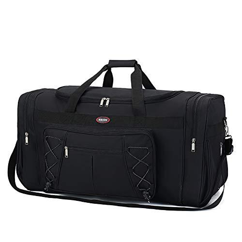 Hywot Herren Reisetaschen Lässige Reisetasche Dickes Segeltuch Wasserdicht Langer Riemen Kratzfeste Handtaschen Mit Großer Kapazität,blacksinglepocket