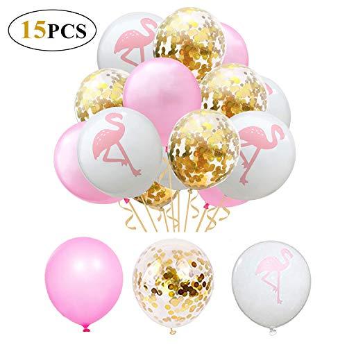 15 Stück Flamingo 12 Zoll Ballons - für Hochzeit Dekoration Geburtstag Hawaii Party Dekorationen ()