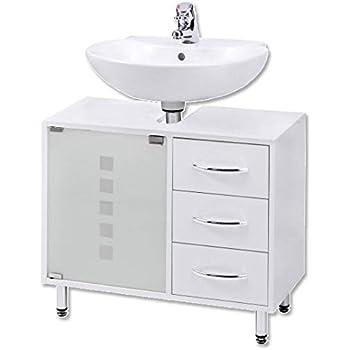 Amazon.de: Waschbeckenunterschrank | Waschtischunterschrank ... | {Waschtischunterschrank holz weiß 63}