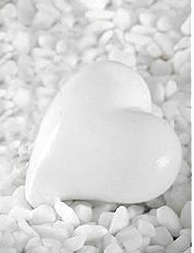 Shophaus24 12 Stück weiße Herzen aus Keramik zum legen. -