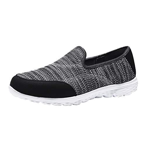 Damen Turnschuhe gemütlich Casual Solid Sport atmungsaktiv leichte Slip On Schuhe Sommer schuhe Mesh Faule Schuhe (Womans Schuhe Sketcher)