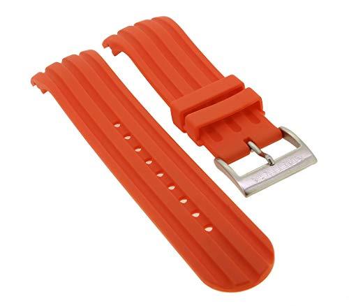 Nautica Chrono Ersatzband | Uhrenarmband aus Kautschuk in rot mit Schließe silberfarben | A17584G