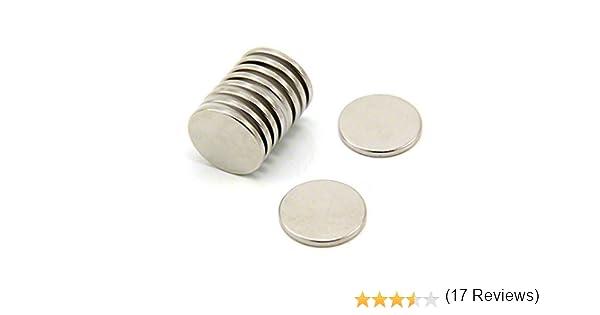 2,3kg force dadh/érence pack de 4 Magnet Expert/® 20mm diam/ètre x 2mm N35 n/éodyme aimant