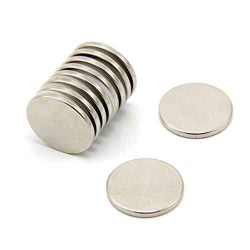 First4magnets F405-N35-4 Neodym-Magneten, 2,3 kg Ziehen, 4-er Pack, Metall, silber, 20 mm Durchmesser x 2 mm Dicken (20 Pack Mm)