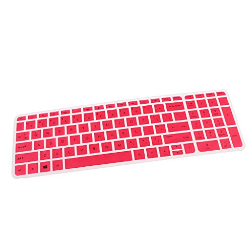 F Fityle Silikon Tasttaturschutz Keyboard-Abdeckung Silikon Skin Cover für HP Pavilion 15-Zoll Notebooks - # 2