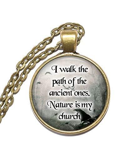Spirituelle Halskette, Wicca, heidnisch, Natur, Antike, Kirche, inspirierende Halskette, Kunst-Anhänger