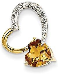Sterling Silver & 12K Caballo En Collar del corazón por UKGems-Sterling Silver & 12K Horse In Heart Necklace by UKGems