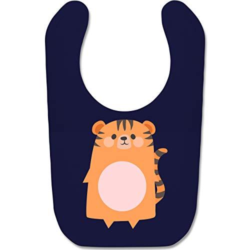 Shirtracer Karneval und Fasching Baby - Kostüm Fasching Tiger - Unisize - Navy Blau - BZ12 - Baby Lätzchen Baumwolle