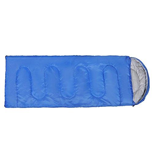 Sacco a pelo con sacco a compressione, sacco a pelo esterno portatile impermeabile per campeggio escursionismo zaino in spalla blu