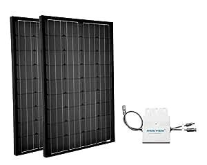 mini photovoltaikanlage 200wp plug play hausnetz direkteinspeisung steckdose. Black Bedroom Furniture Sets. Home Design Ideas