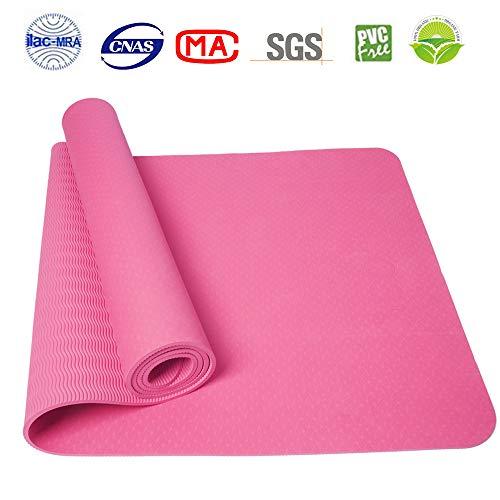 Athoon tappetino yoga professionale antiscivolo con borsa da trasporto new ecologico tpe materassino per yoga ginnastica pink