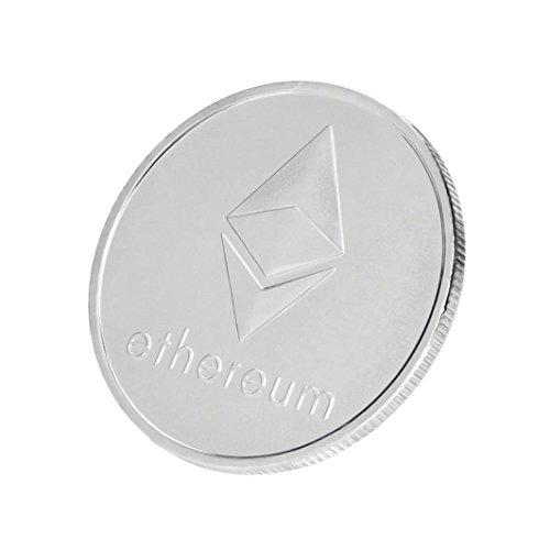 Dekoartikel Münzen,Jaminy 4X Vernickelt Gedenk Litecoin ETH Sammler Gold Eisen Miner MÜNze Geschenk - 5