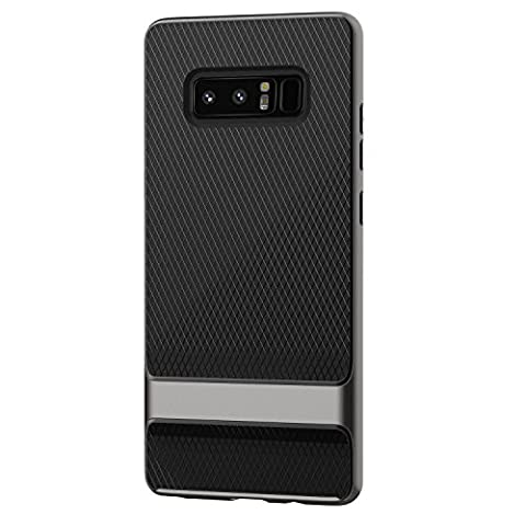 Coque Galaxy Note 8, JETech Deux-Couche Mince Protecteur Case Cover Housse Etui avec Shock-Absorption et Fibre de Carbone pour Samsung Galaxy Note8 (Gris)