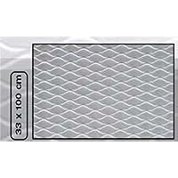 "Sumex Raf1000 - Rejilla Aluminio""Hexagonal Type"", 33X100 cm, Plata"