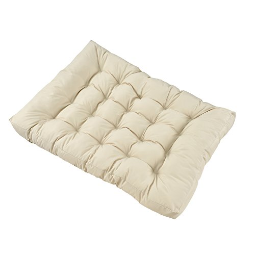 [en.casa] Palettenkissen - 3er Set - Sitzpolster + Rückenkissen [creme] Paletten-Sofa In/Outdoor - 4