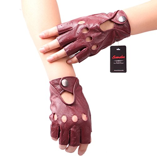 sumolux-womens-lamskin-leather-1-2-finger-gloves-for-motorcycling-driving-running-brown-large