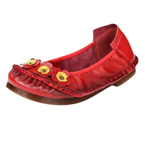 Patent Chunky Heel Sandal (xmansky Damen Sommer Sandalen Wedges Leopard Casual Schuhe Strap Gladiator Roman Sandalen, Neue Klassische Einzelschuhe Freizeit Blumen flachbesohlte bonbonfarbene Damenschuhe)