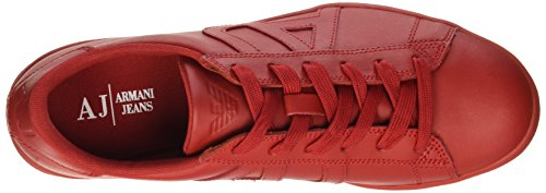 Armani Jeans 935565cc500, Sneakers basses homme Rot (ROSSO 00074)