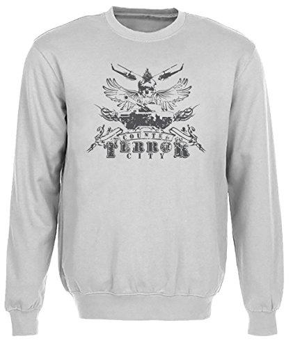 Counter Terror Uomo Grigio Felpa Felpe Maglione Pullover Grey Men's Sweatshirt Pullover Jumper