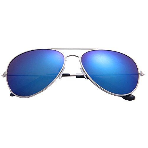 VRTUR Klassische Unisex Retro Piloten Sonnenbrille Myfashionist Pilotenbrille Aviatorbrille Portobrille Sonnenbrille Brille Verspiegelt (One size,C)