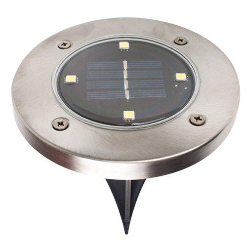 iBalody Imprägniern Sie solarbetriebene LED-Disketten-Lichter Garten-Treppen im Freien, wie auf Fernsehmöbel-Zubehör gesehen (Color : White light-1pc)