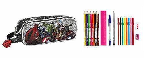 Avengers – Portatodo doble lleno, 23 piezas (Safta 811527707)