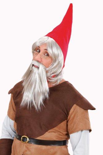 Widmann G6499 - Perücke Zwerg mit Mütze und (Amazon Kostüm Gnome)