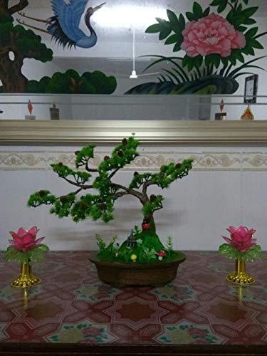 LWBAN-Flower Dekorative Blumen Dekorative künstliche Bäume mit Blüte (Grün), D, 1