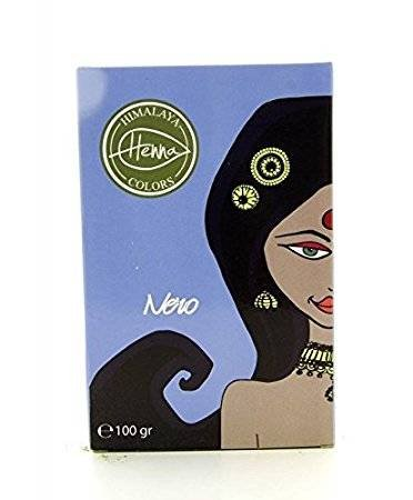 Himalaya - tinta per capelli in polvere - nero - copre i capelli grigi - protegge e nutre - senza elementi chimici - non testato sugli animali - 100 g